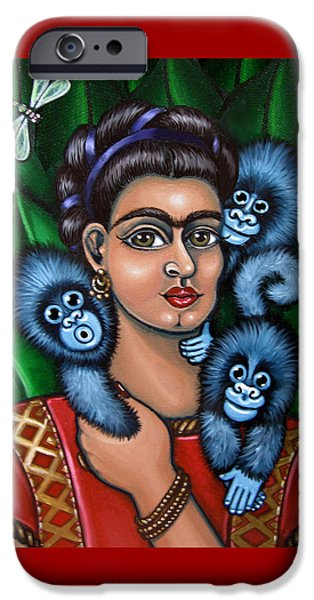 Diego Rivera iPhone Cases - Fridas Triplets iPhone Case by Victoria De Almeida