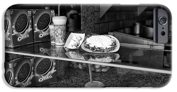 Oreo iPhone Cases - Fried Dough at Seaside Heights mono iPhone Case by John Rizzuto