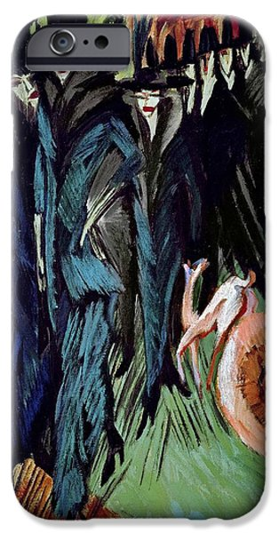 Boa Constrictor iPhone Cases - Friedrichstrasse, 1914 Oil On Canvas iPhone Case by Ernst Ludwig Kirchner