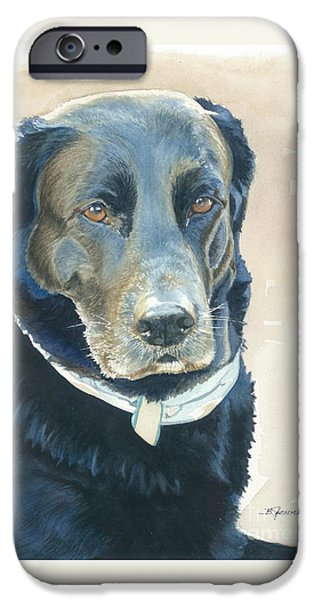 Black Dog iPhone Cases - Friend Forever iPhone Case by Barbara Jewell