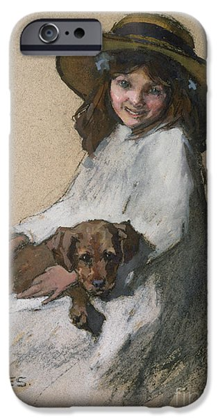 Man's Best Friend iPhone Cases - Friends iPhone Case by Elizabeth Adela Stanhope Forbes