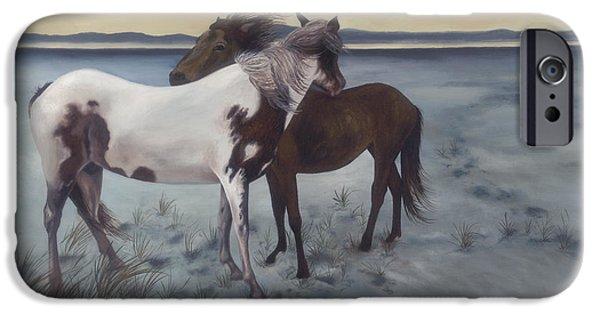 Windblown Paintings iPhone Cases - Friends iPhone Case by Glenda Stevens