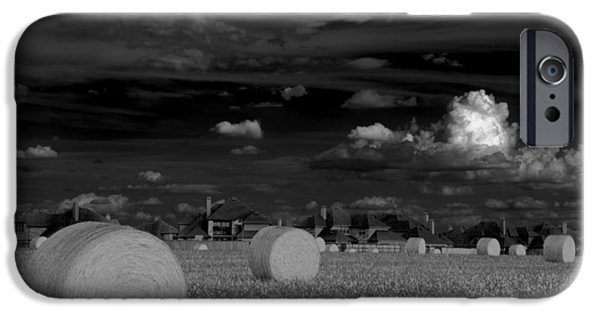 Hay Bales iPhone Cases - Frisco Dream iPhone Case by Darryl Dalton