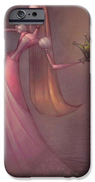 Princess iPhone Cases - Frog Prince iPhone Case by Adam Ford
