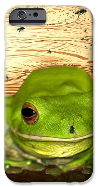 Froggy Heaven iPhone Case by Holly Kempe