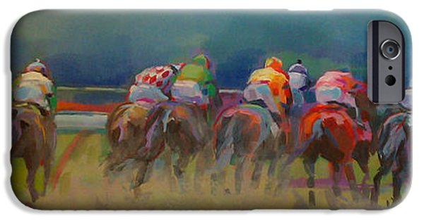 Racing iPhone Cases - From Behind iPhone Case by Kimberly Santini