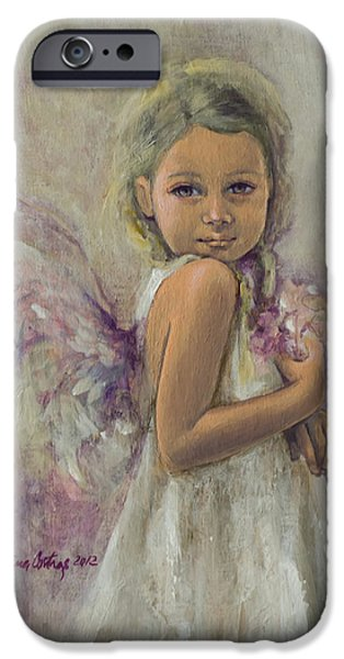 Christmas Card Art iPhone Cases - From Heaven... iPhone Case by Dorina  Costras