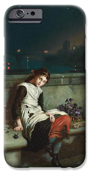 Innocence Paintings iPhone Cases - From Morn Til Night iPhone Case by Augustus Mulready