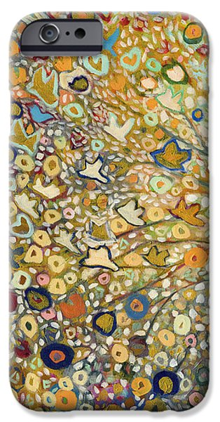 Flight Paintings iPhone Cases - From Out of the Rubble Part A iPhone Case by Jennifer Lommers