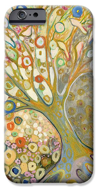 Modern Abstract iPhone Cases - From Out of the Rubble Part B iPhone Case by Jennifer Lommers