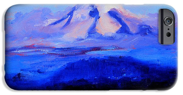 Business Paintings iPhone Cases - From Portland iPhone Case by Nancy Merkle