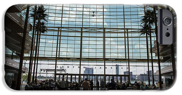 Renaissance Center iPhone Cases - From Renaissance to Windsor iPhone Case by John McGraw