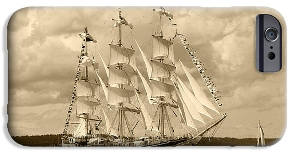 Sailboats iPhone Cases - From Russia With Love iPhone Case by Kym Backland
