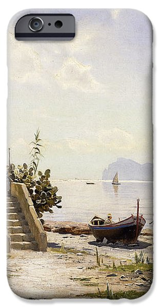 From Sorrento Towards Capri iPhone Case by Peder Monsted