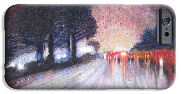 Rain Pastels iPhone Cases - From the Airport iPhone Case by Lillian Brue