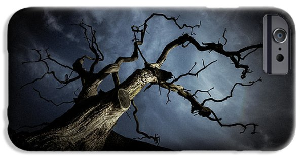 Chris iPhone Cases - From the darkness it came iPhone Case by Chris Fletcher