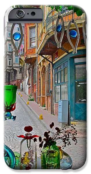 Balat iPhone Cases - From the glass-makers window iPhone Case by Ayse Taskiran