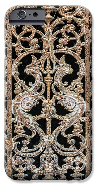 Antique Ironwork iPhone Cases - From the past iPhone Case by Delphimages Photo Creations