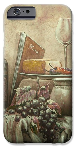 Old Pitcher Paintings iPhone Cases - From The Vine iPhone Case by Martin Lacasse