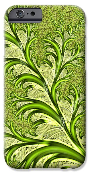 Fractal iPhone Cases - Fronds iPhone Case by John Edwards