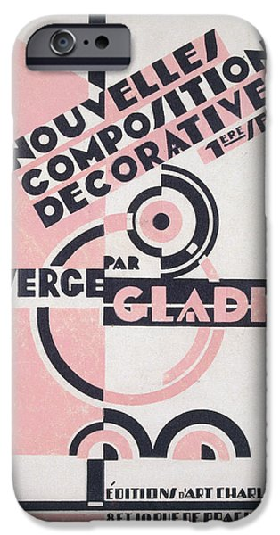 Abstract Shapes Drawings iPhone Cases - Front cover of Nouvelles Compositions Decoratives iPhone Case by Serge Gladky