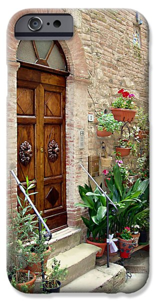 Best Sellers -  - Botanical Photographs iPhone Cases - Front Door iPhone Case by Ellen Henneke