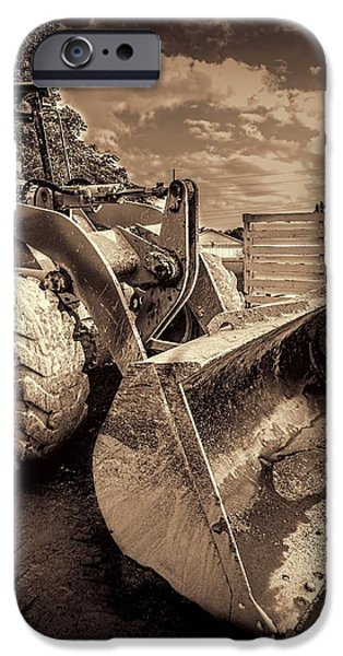 Machinery iPhone Cases - Front loader-3 iPhone Case by Rudy Umans