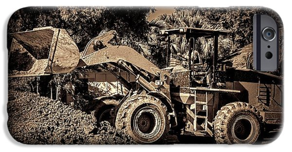Machinery iPhone Cases - Front loader-6 iPhone Case by Rudy Umans