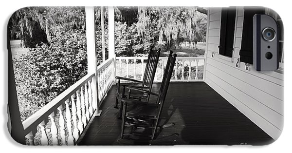 Historic Site iPhone Cases - Front Porch Chairs iPhone Case by John Rizzuto
