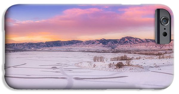 New Years iPhone Cases - Front Range Sunrise iPhone Case by Darren  White