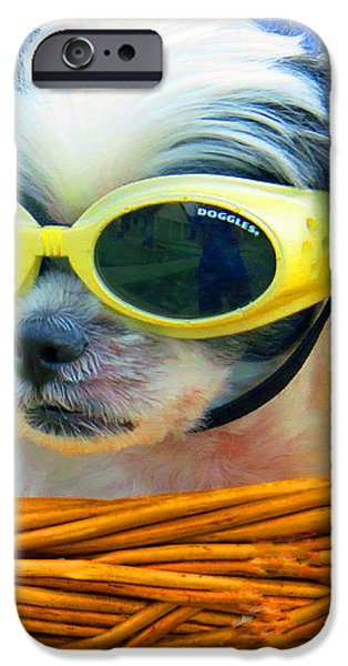 Front Seat Driver - Puppy Mania iPhone Case by Ella Kaye Dickey