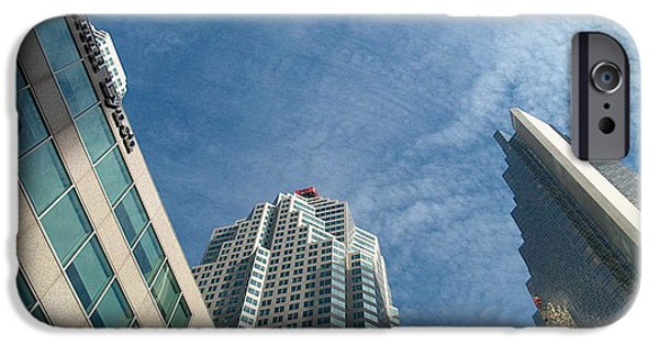 Recently Sold -  - Board iPhone Cases - Front Stree Down Town Toronto Sky view through the Hotels Skyscraper condo  housing buildings Water  iPhone Case by Navin Joshi