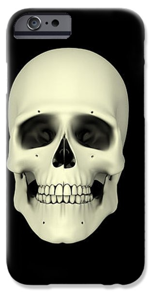 Front View Of Human Skull iPhone Case by Stocktrek Images