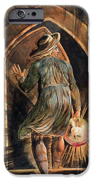 Rays Paintings iPhone Cases - Frontispiece to Jerusalem iPhone Case by William Blake