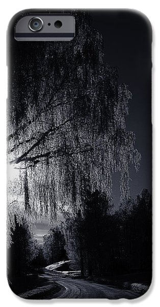 Norway iPhone Cases - Frost Night iPhone Case by Erik Brede