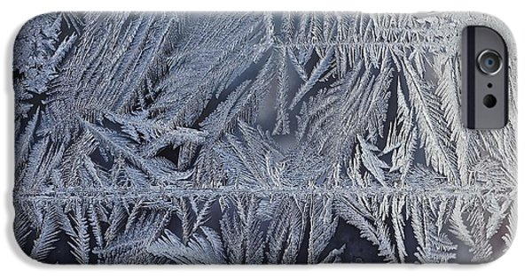 Asymmetrical iPhone Cases - Frost on the Window iPhone Case by James Levasseur