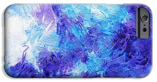 Technique iPhone Cases - Frosted Blues Fantasy II iPhone Case by Irina Sztukowski