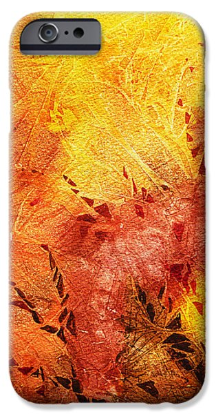 Abstractions iPhone Cases - Frosted Fire II iPhone Case by Irina Sztukowski