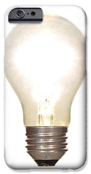 Bulb iPhone Cases - Frosted Light Bulb iPhone Case by Olivier Le Queinec