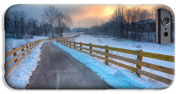 Indiana Scenes iPhone Cases - Frosty Monon iPhone Case by Alexey Stiop