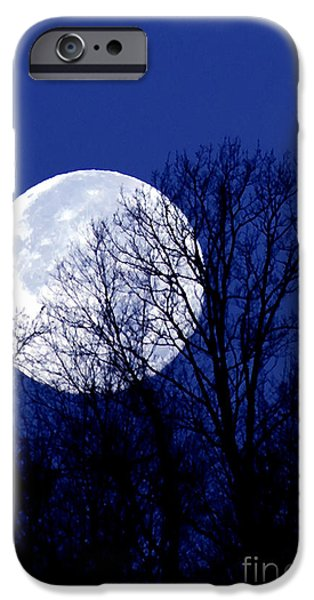 Beaver Digital iPhone Cases - Frosty Moon iPhone Case by Thomas R Fletcher