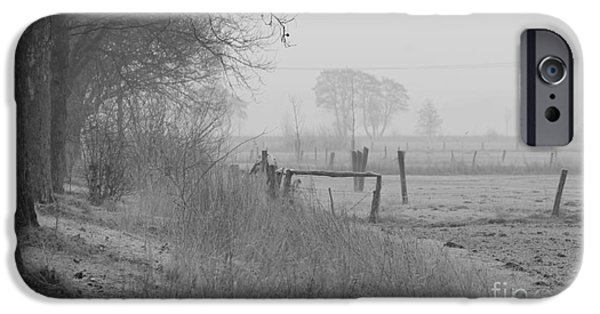 Wintertime iPhone Cases - Frosty morning iPhone Case by Four Hands Art