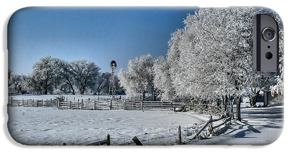Wintertime iPhone Cases - Frosty Morning iPhone Case by Steven Reed