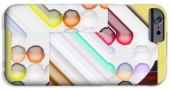 Technical iPhone Cases - Frosty Painted Marble Weave iPhone Case by Liane Wright