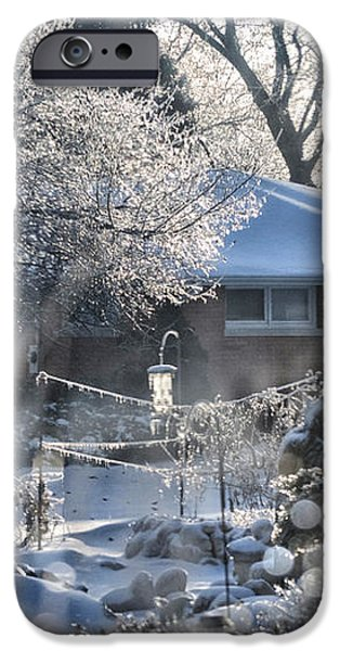 Frosty Winter Window iPhone Case by Thomas Woolworth
