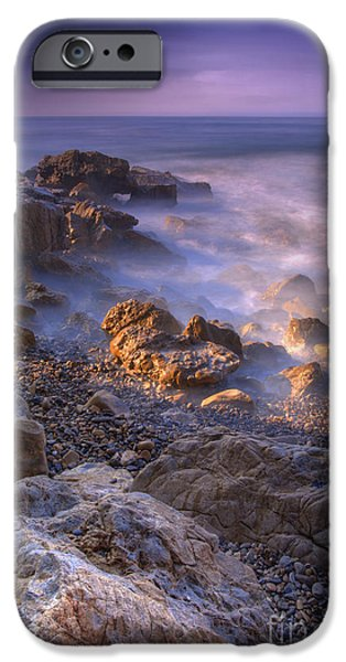 Newport Photographs iPhone Cases - Frothy Coast iPhone Case by Marco Crupi