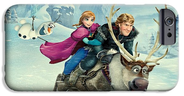 Animation iPhone Cases - Frozen 256 iPhone Case by Movie Poster Prints