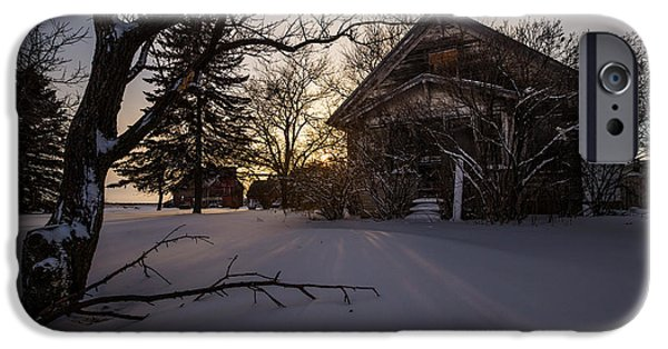 Abandoned House iPhone Cases - Frozen and Forgotten 2 iPhone Case by Aaron J Groen