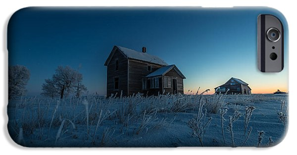 Abandoned House iPhone Cases - Frozen and Forgotten iPhone Case by Aaron J Groen