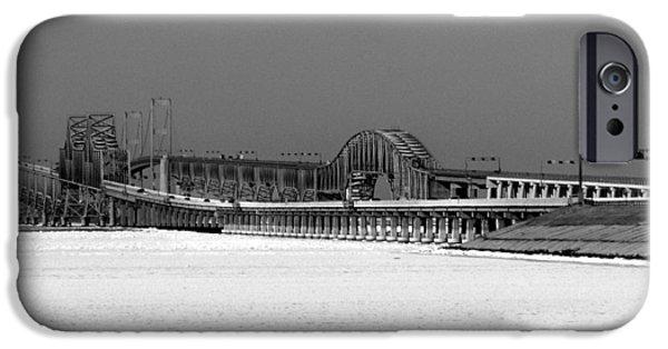 Bay Bridge iPhone Cases - Frozen Bay Bridge iPhone Case by Skip Willits